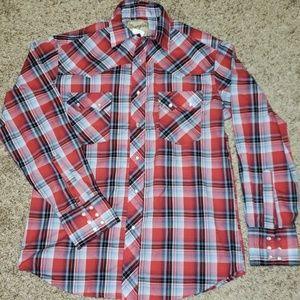 Womens wrangler snap up long sleeve shirt